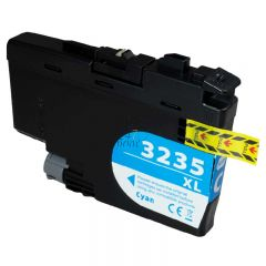 Compatible BROTHER LC-3235 XL Cyan Inkt Cartridge  Cyaan van 247print.nl
