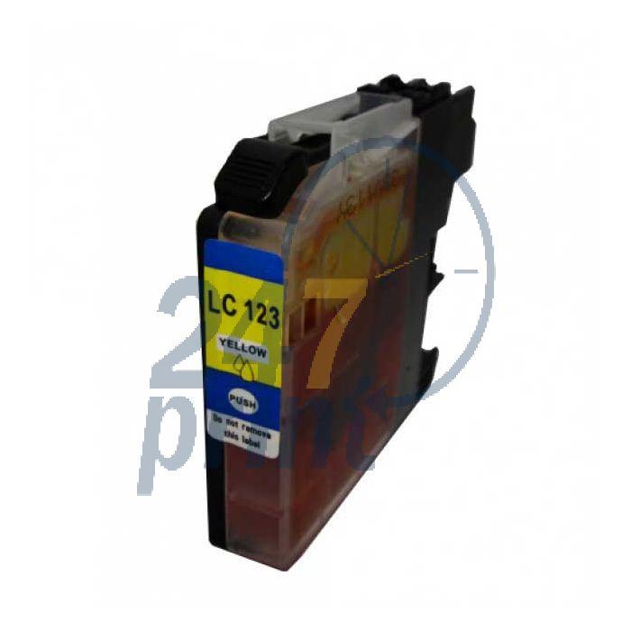 Compatible BROTHER LC-123Y Inkt Cartridge  Geel van 247print.nl