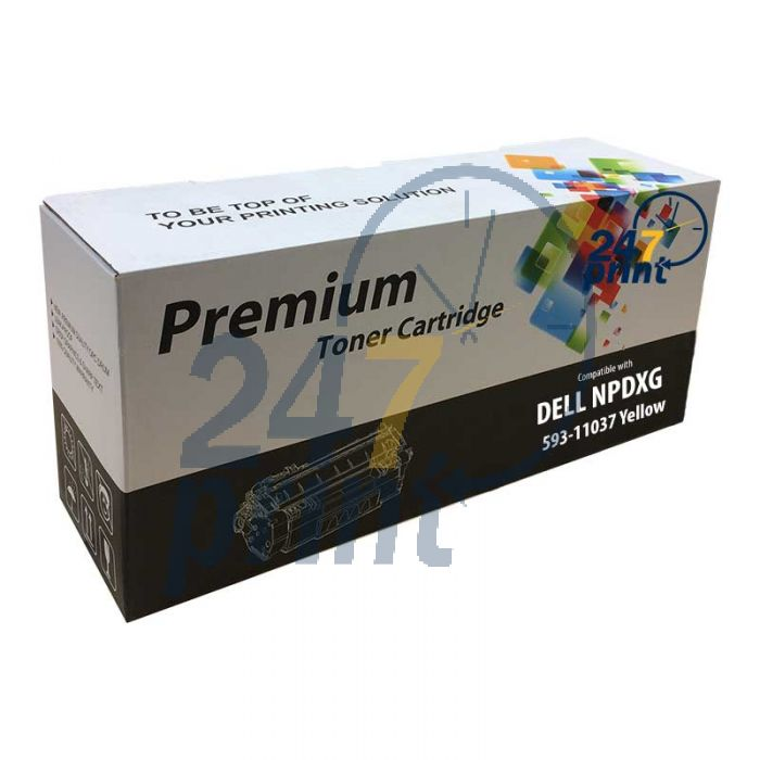 Compatible DELL 593-11037 / NPDXG Toner Cartridge  Geel van 247print.nl