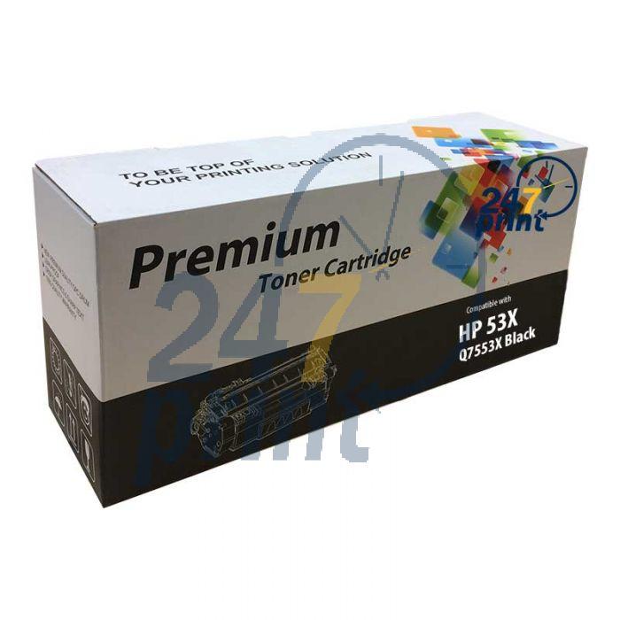 Compatible HP 53X / Q7553X Toner Cartridge  Zwart van 247print.nl