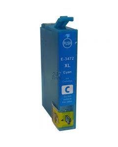 Compatible EPSON 34XL / T3472 Inkt Cartridge  Cyaan van 247print.nl