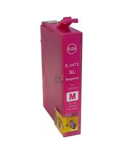 Compatible EPSON 34XL / T3473 Inkt Cartridge  Magenta van 247print.nl