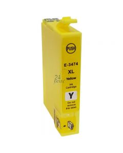 Compatible EPSON 34XL / T3474 Inkt Cartridge  Geel van 247print.nl