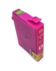 Compatible EPSON 502XL / C13T02W34010 Inkt Cartridge  Magenta van 247print.nl
