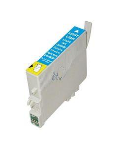 Compatible EPSON T0805 Inkt Cartridge  Foto Cyaan van 247print.nl