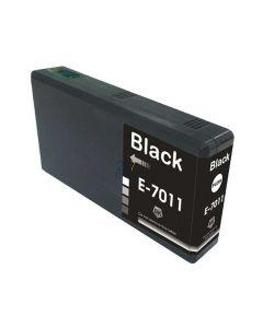 Compatible EPSON T70114010 / T7011 Inkt Cartridge  Zwart van 247print.nl