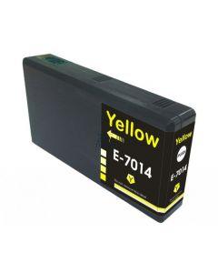 Compatible EPSON T70144010 / T7014 Inkt Cartridge  Geel van 247print.nl