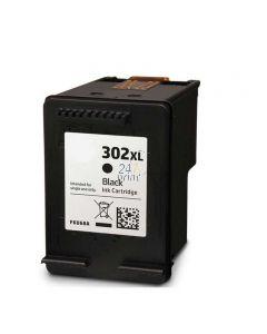 Refilled HP F6U68AE Inkt Cartridge  Zwart van 247print.nl