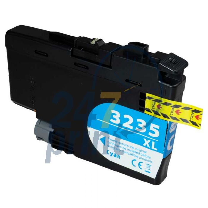 Compatible BROTHER LC-3235 XL Cyan Inkt Cartridge  Cyaan van 247print.nl