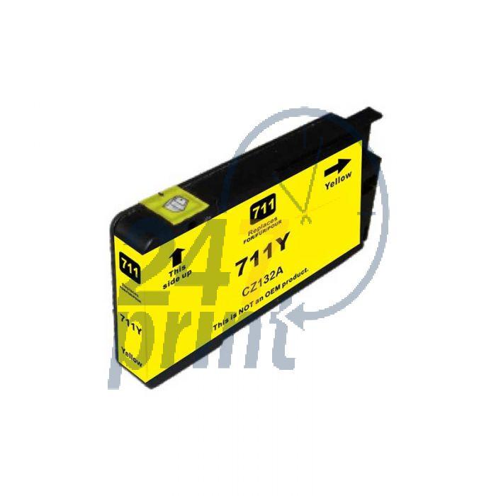 Compatible HP 711XL /  CZ132A Inkt Cartridge  Geel van 247print.nl