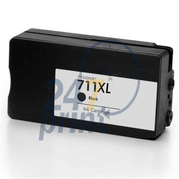 Compatible HP 711XL /  CZ133A Inkt Cartridge  Zwart van 247print.nl